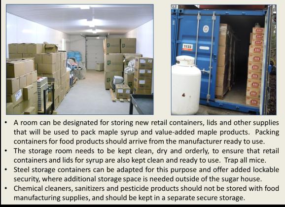 Clean storage
